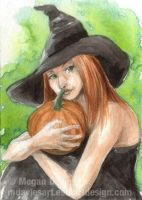 Lovely pumpkin  ACEO by Pannya