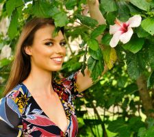 Laura - floral print and hibiscus 1 by wildplaces