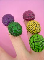Tasty Brain Rings by monsterkookies