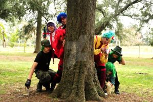 HTF Cosplay - In the forest. Group photo by Paper-Doll89