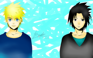 Sasuke and Naruto Cool!!! by SasuNaruRocks10001