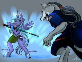 Luna vs Rama by shivaesyke