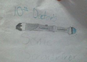 10th doctor's sonic screwdriver by Lucdoesfanart