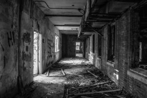 Abandoned Mental Hospital by Paper-Foxx