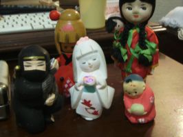 clay japanese and chinese dolls by curlytopsan