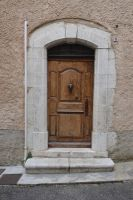 Old door with bronze knocker by A1Z2E3R