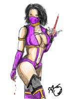 Mortal Kombat Mileena #Masked COLOR COMP by K-otq