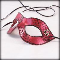 Spider mask in Crimson by pilgrimagedesign