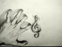 Creeping Hand of Music WIP by silversunned