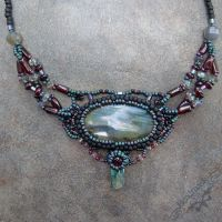 Beadwoven Labradorite Necklace by Beadmask