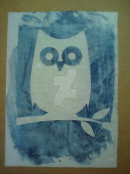 White owl, blue sky by Alalit
