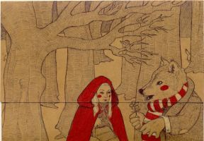 Little Red Ridding Hood by LadyOrlandoArt