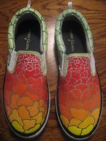 Abstract Canvas Shoes by Acrylicolt