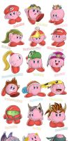 First 18 Brawl Kirby Hats by SootToon