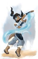 Avatar Korra waterbending by Kna