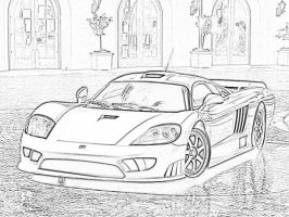 My Saleen S7 Drawing by PC-Customizer-2010