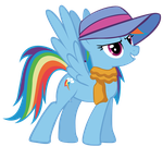 Rainbow Dash always dresses in style by AngeOMGWTFBBQ