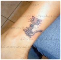 Kitty cat tattoo by tofurizer