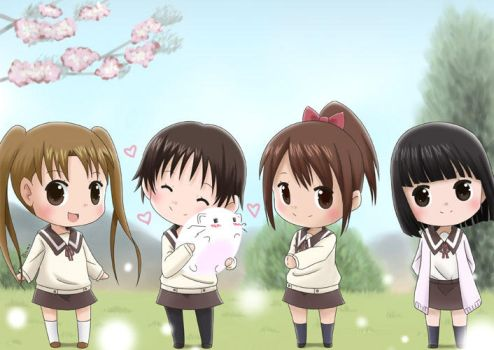Girls from Tamayura by Momotsuki
