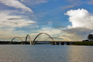 Ponte JK in District Federal Brazilia by EyeInFocus
