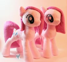 Two Pinkies by Yukamina-Plushies