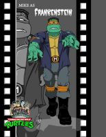 TMNT MIKE AS Frankenstein film by ShinMusashi44