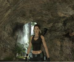 Lara in the cave by Chriss2010