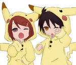 Pikachu kawaii coulple by Souuleaater
