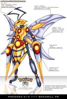 Pokedex 015 - Beedrill FR by Pokemon-FR