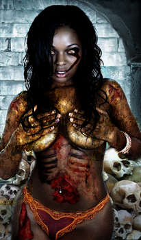 My first zombie pic by metalwraith666