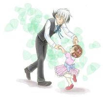 Black Jack and Pinoko waltzing by Sibauchi