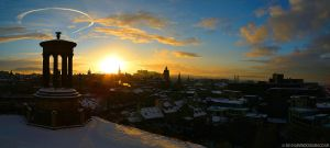 Edinburgh Winter Skyline by gdphotography