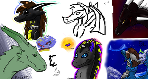 Iscribble again by The-steel-flower