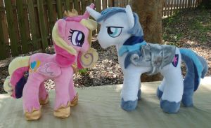 Princess Cadance and Shining Armor Plushie Set by siriasly