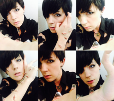 Hongbin - Voodoo Doll - Full Makeup/Wig Test by fadingforest