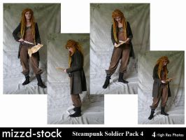 Steampunk Soldier Pack 4 by mizzd-stock