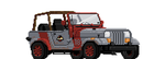 jurassic park 8bit jeep by chicagocubsfan24