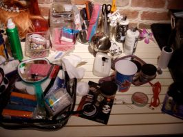 Makeup Table at TV Studio by alteredboxes
