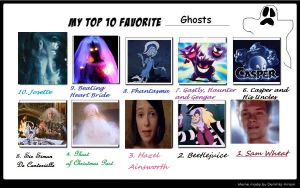 Top 10 Ghosts meme filled by me by Roses-and-Feathers