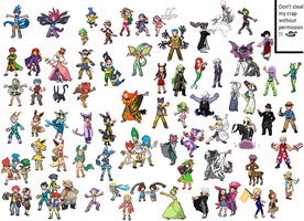 All Trainer Sprites by justwh22