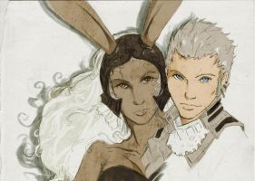 Fran and Balthier by LaChatte