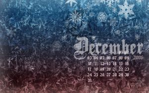 December 2006 Desktop Calendar by kriegs
