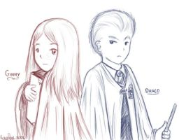 Ginny and Draco - Harry Potter by wytwolf