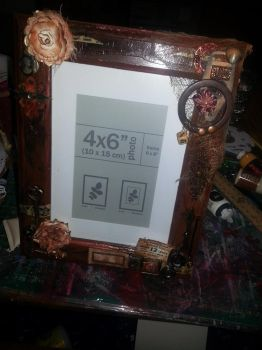 Steampunk Photo Frame by Roxie5526
