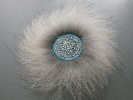 Arctic cathedral - wolf fur pin by EskimoScrybe