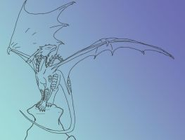 Dragon Lineart by Spellcheck-15