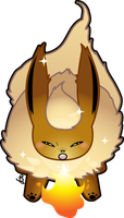 Shiny Flareon by KrowsyKunst