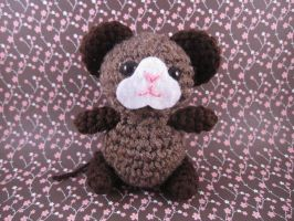 Amigurumi Brown Mouse by AmiTownCreatures
