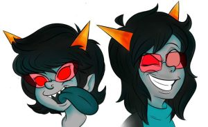 Homestuck: Terezi and Latula by Stungun44