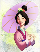 coloring book page - mulan ii by naima
